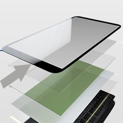 OEM factory silk screen print tempered glass plate cover
