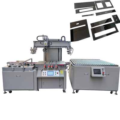 Household appliance glass screen printing machine with infrared dryer